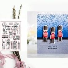 Британский стиль Sodier прозрачные штампы DIY ремесленные товары, карточка альбома делая трафарет декор Скрапбукинг тиснение новые штампы
