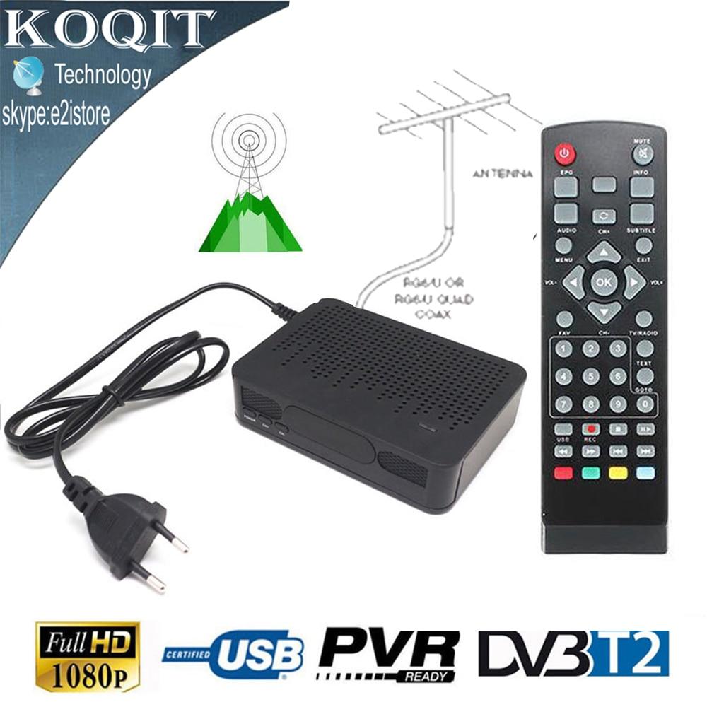 1080P Mini DVB-T2 Digital Terrestrial Tuner TV RECEIVER CONVERTOR HDMI Antenna
