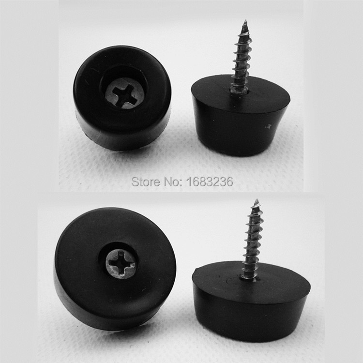 Amazing 24pcs Black Rubber Durable Soft Furniture Chair Table Leg Glides Anti Skid  Pad Floor Protector Screw On Noise Killer In Corner Brackets From Home ...