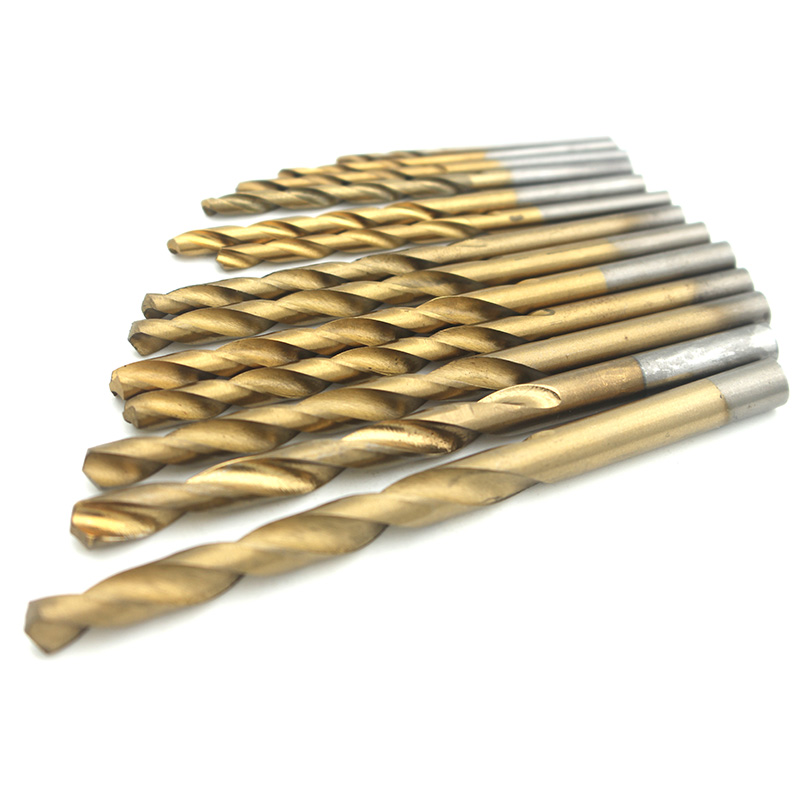 13pcs/set High Quality Twist Drill Bit HSS Plating Titanium Saw Set 1.5-6.5mm For Woodworking Metal Plastic Drilling Tools