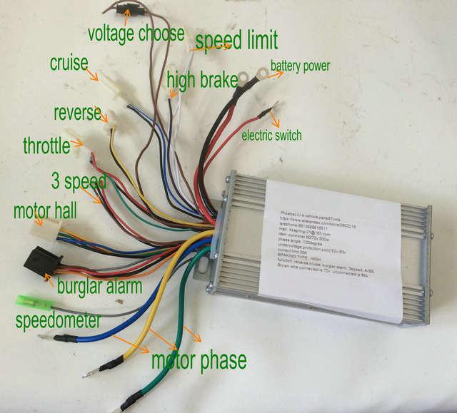 Online Shop 48 60v 72v 500w Sinewave Controller Bldc Motor