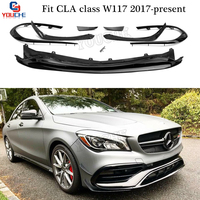 W117 Facelift Front Bumper Lip with Splitters Canards for Mercedes CLA Class C117 CLA180 CLA200 CLA250 CLA45 AMG 2017 2018