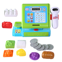 Surwish 16Pcs Funny Pretend & Play Cash Register Cashier Children Early Educational Toy