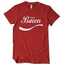 2017 Time-limited Fashion O-neck Broadcloth Cotton No Tee4u Print T Shirt Hot Enjoy Bacon Short Men Printed Tee