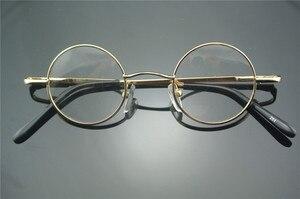 Image 4 - Bisagras de resorte redondas pequeñas para miopía, lentes Vintage de 38mm con monturas para gafas metálicas