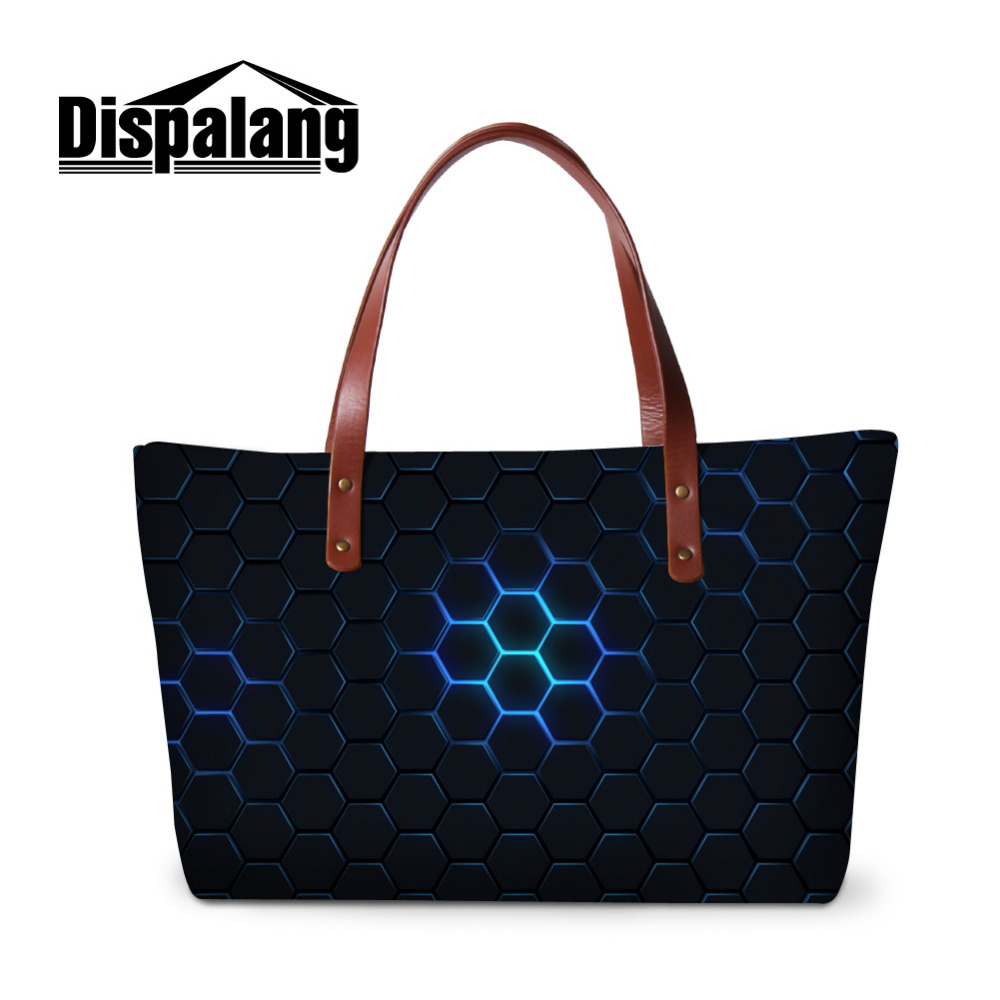 Dispalang Geometric Printing Shoulder Bag Brand Women Handbags Fashion Tote Female Hand Bags Designer Woman Large Messenger Bag leftside fashionable 2017 women tassel designer rivet boston bag female handbag woman hand bags shoulder bag with wide strap