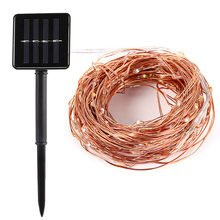 20M 10M Solar Copper Wire String Light 8 Modes LED Fairy String Waterproof Solar Home Yard Christmas Holiday Garedn Decoration(China)