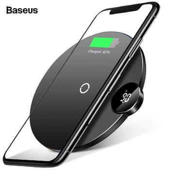 Baseus LED Qi Caricatore Senza Fili Per iPhone 11 Pro Xs Max X 10W Veloce Wirless Wireless Pad di Ricarica Per samsung S10 S9 Xiao mi mi 9