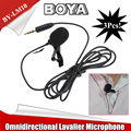 Free shipping!3Pcs BOYA BY-LM10 Lavalier Condenser Microphone for ios 5S 6 Plus Smartphone