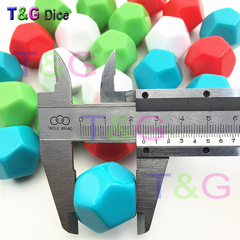 5pcs 25mm 12-sided D12 white blank dice can be written by pen for board game accessories High Quality image
