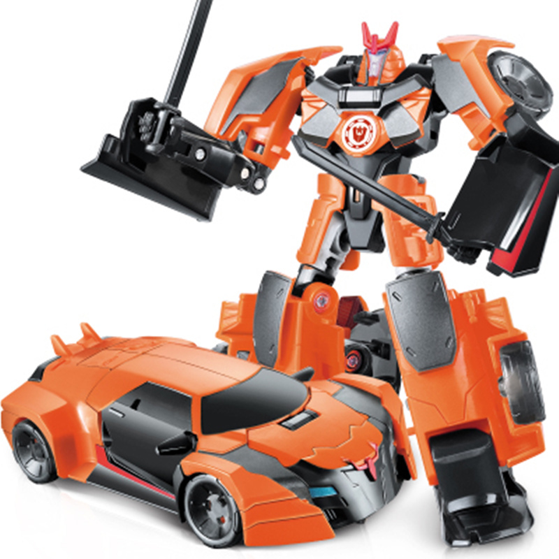 NEW Cool Transformation Robot Car  Toys Kids Anime Series Action Figure Mobel ABS Plastic Model Christmas Gift For Children new arrive kids toy bumblebee toy classic anime transformation robot action figure mobel metal birthday gift for children ws116