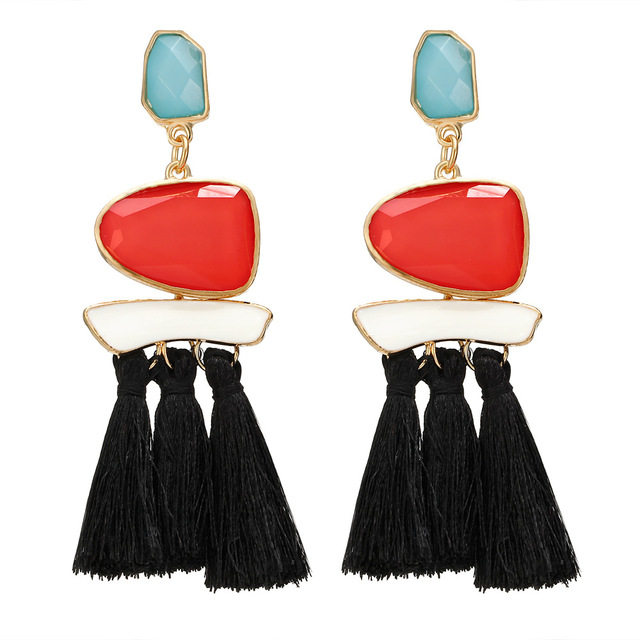 HOCOLE 2017 Brincos Women Brand Boho Drop Dangle Fringe Earring Vintage ethnic Statement Tassel earrings fashion jewelry Charms 4