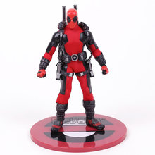 MEZCO Deadpool 1/12 Scale PVC Action Figure Collectible Modelo Toy (roupas reais) 16.5 cm(China)