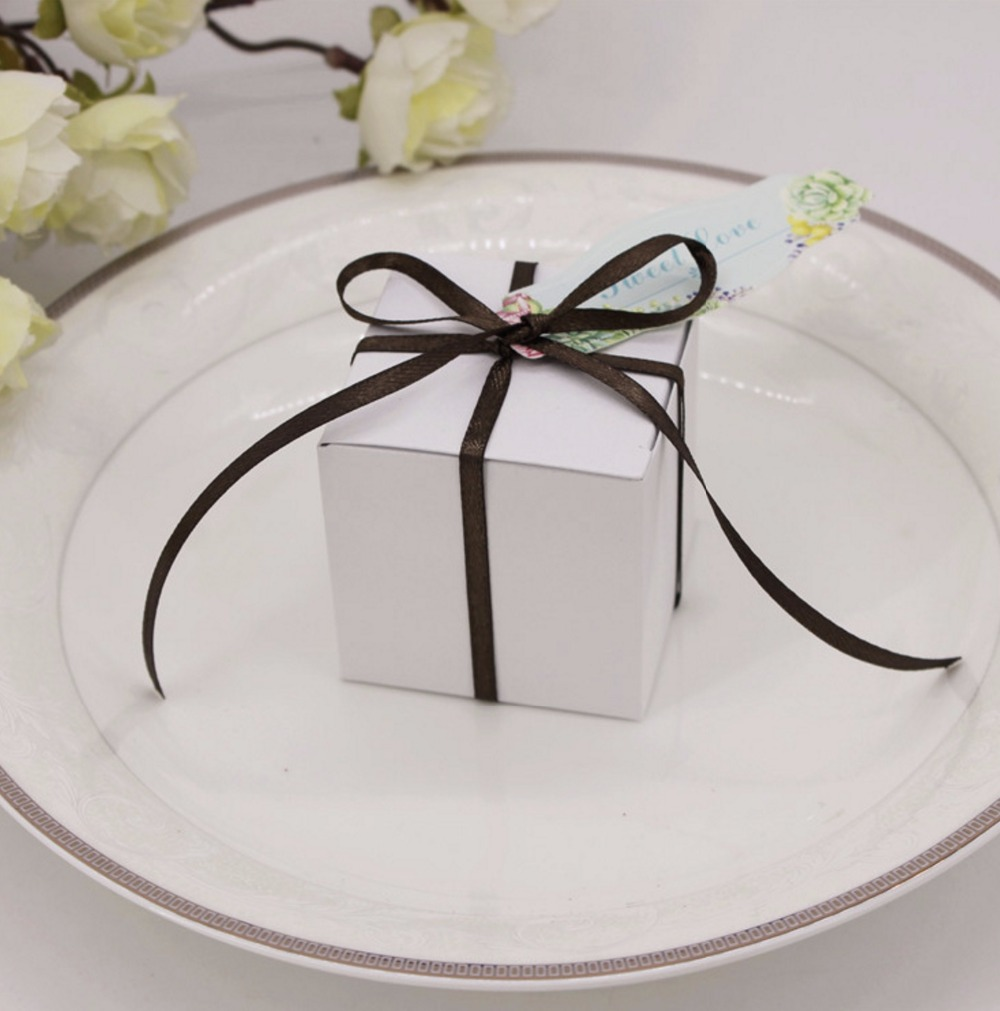 50 of pack Creative square box wedding birthday gift packaging ...