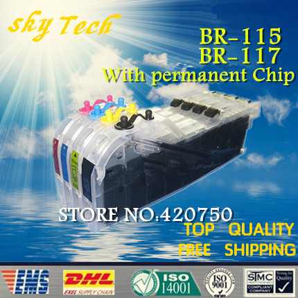 ФОТО Full ink Refill Cartridge suit for LC115 LC117 , suit for Brother J4210N 4510N J4215N J4910CDW ,high Volume With ARC Chips
