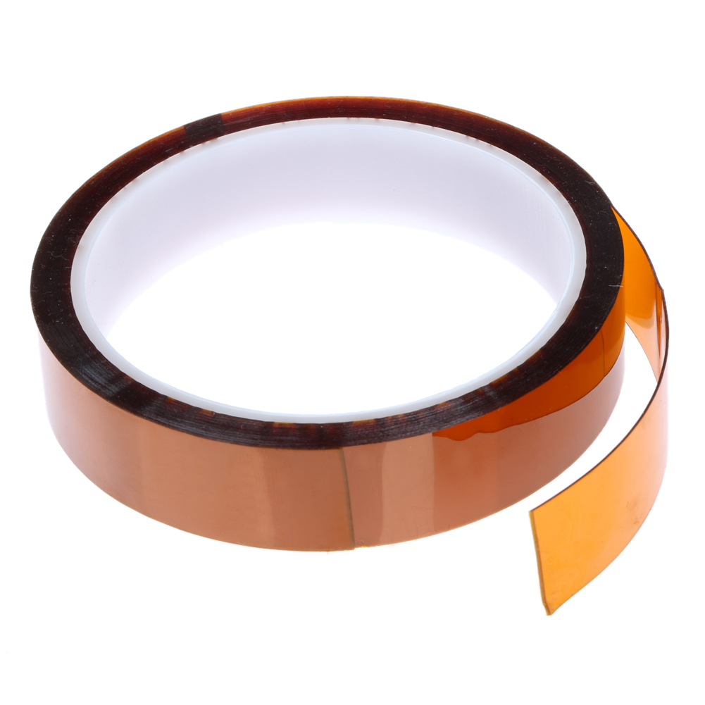 20mm x 30m Heat Resistant Tape 280 Degree High Temperature Polyimide Self-adhesive Shielding Tape Tawny for Electronic Industry high temperature heat resistant polyimide adhesive tape 65mm x 30m 260 300 degree new for electronics industry