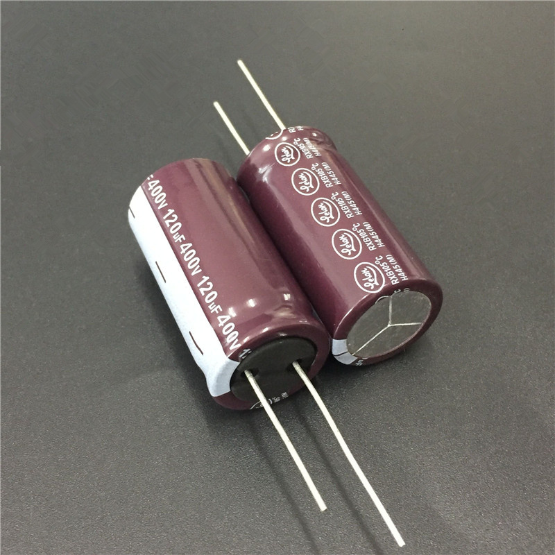 2pcs 120uF 400V LELON RXB Series 18x36mm 400V120uF Long Life PSU Aluminum Electrolytic Capacitor