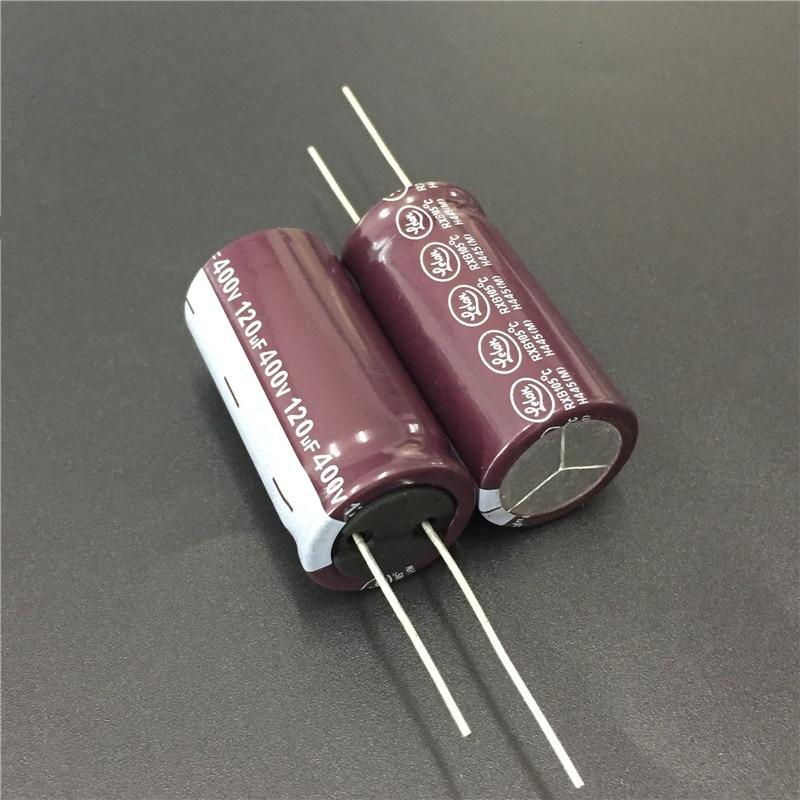 2pcs 120uF 400V LELON RXB Series 18x36mm 400V120uF Long Life PSU Aluminum Electrolytic Capacitor