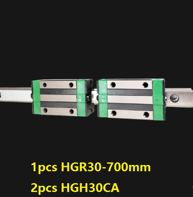 1pcs linear guide rail HGR30 700mm + 2pcs HGH30CA linear narrow blocks for CNC router parts Made in China 1pcs linear guide rail HGR30 700mm + 2pcs HGH30CA linear narrow blocks for CNC router parts Made in China