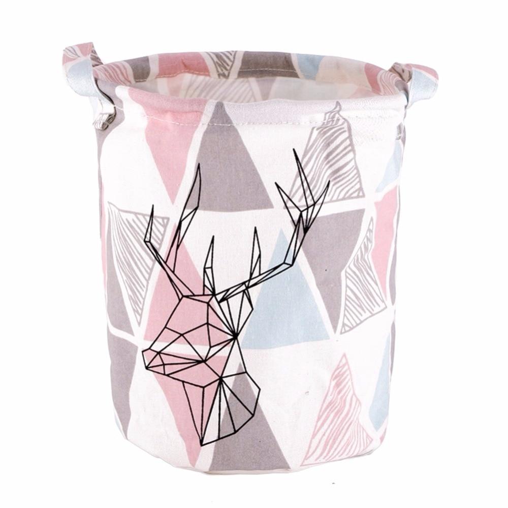 New Folding Canvas Storage Box Home Linen Desk Toys Holder Laundry Basket Box Storage