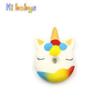 Squishy Toy Donut Unicorn Jumbo Squishy Squeeze Toy Antistress Squishes Slow Rising Stress Reliever Novelty Funny Gift(China)