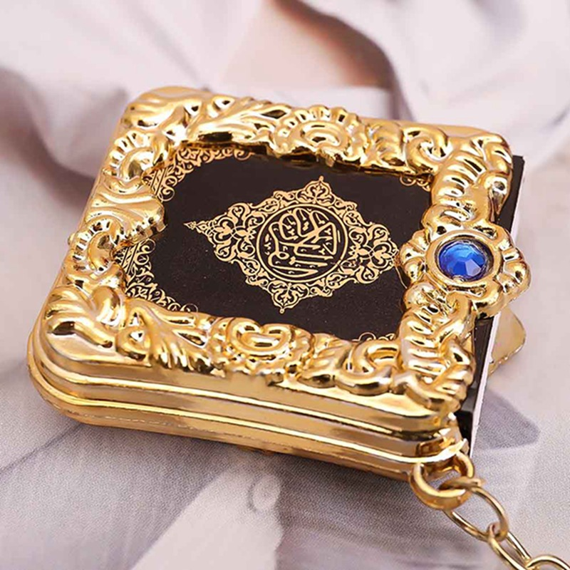 Image 4 - 1Pcs New Muslim Keychain Resin Islamic Mini Ark Quran Book Real 