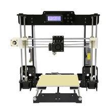 Анет 3D-принтеры Наборы больше печати Размеры RepRap Prusa I3 3D-принтеры комплект DIY с свободной нити 8 ГБ SD карты Инструменты и ЖК-дисплей очаг