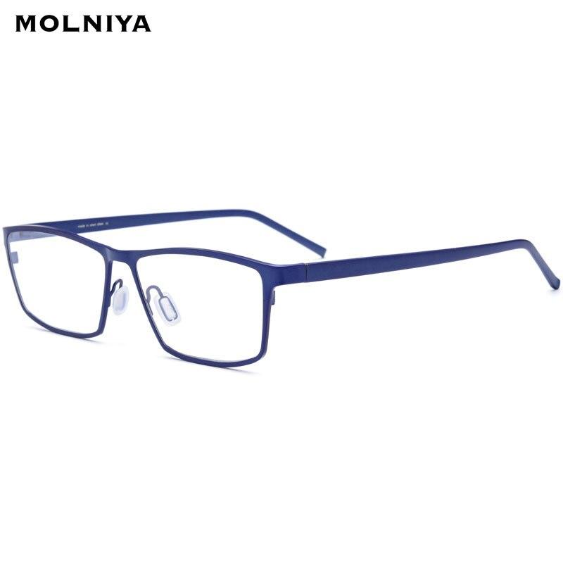 Affaires pur B titane lunettes cadre hommes ultraléger myopie oeil verre Prescription lunettes 2019 optique montures lunettes