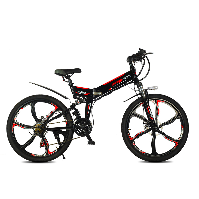 electric mountain bicycle newest meter display 350w high speed motor smart lcd 48v fold ebike