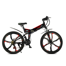 Electric mountain bicycle newest meter display 350w high speed motor smart lcd 48V fold ebike pas 60km-80km electric bike LED цена и фото