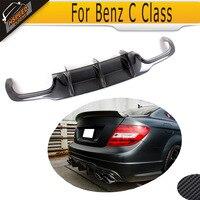 C Class For W204 C63 Carbon Fiber rear lip spoiler Diffuser For Mercedes Benz W204 C63 AMG C300 Sport 12 14 A Style Grey FRP