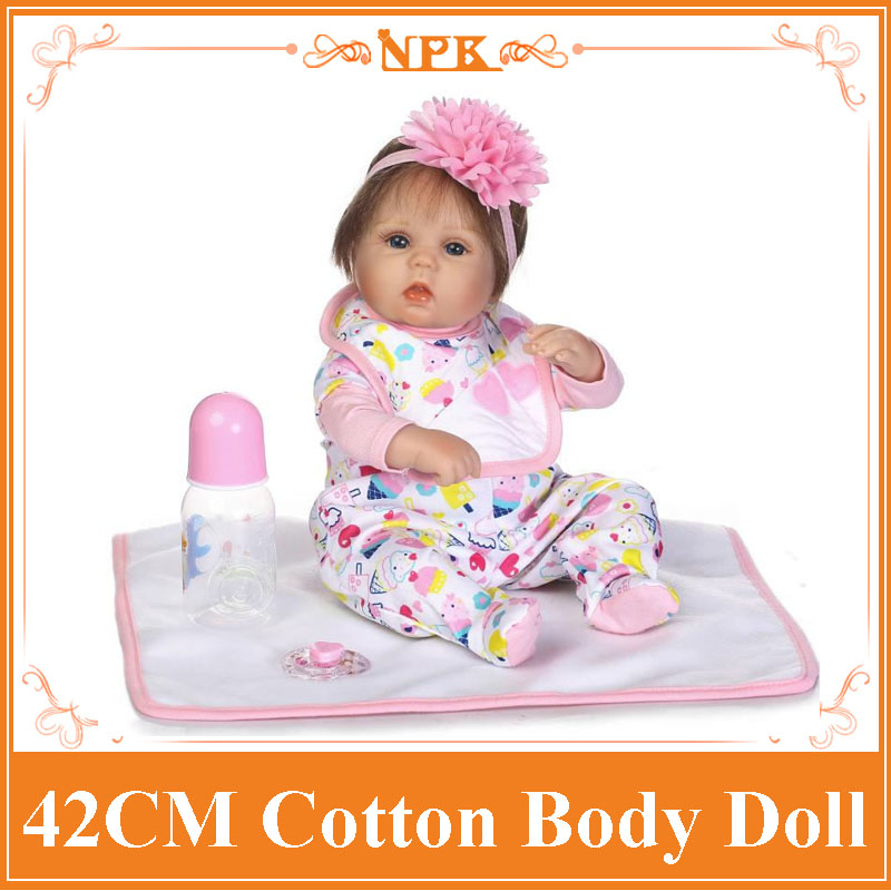 NPK 42cm Lovely Baby Reborn Doll Toys Play House Toys For Kid , Girl Brinquedos Silicone Reborn Babies Birthday Gifts For Kids fracomina 2015