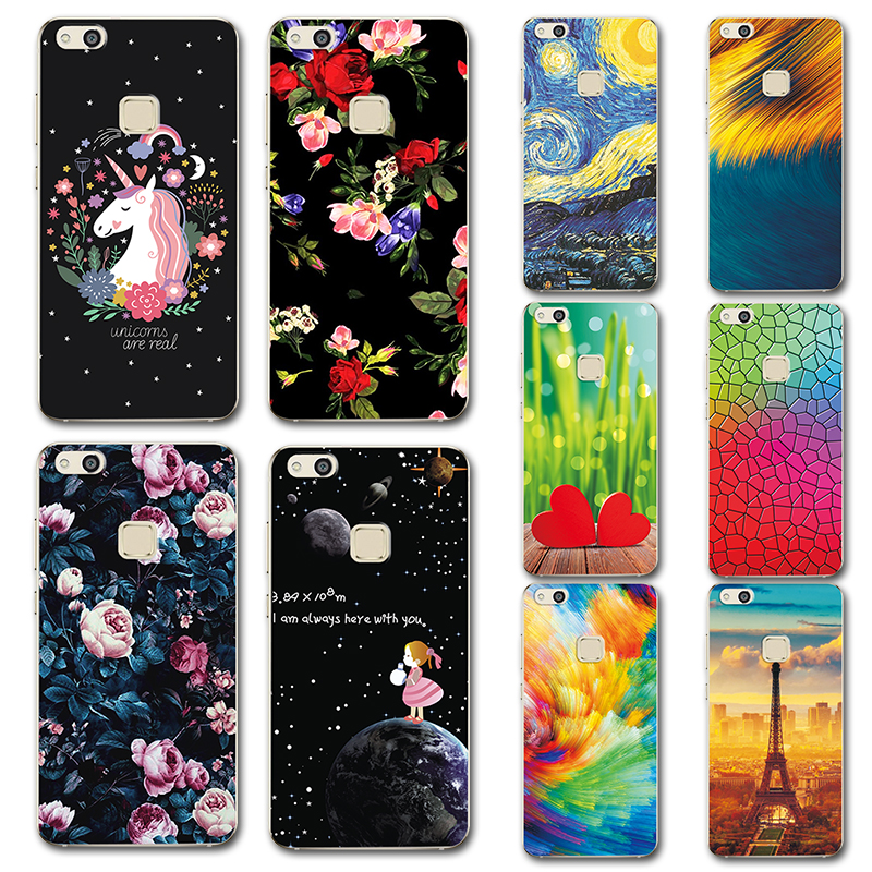 Phone Bags & Cases For Huawei P10 Lite Silicone Phone Case Cover For Huawei P10 Lite Cute Novelty Painted Back Covers Cases On P10lite 5.2 Fundas Smoothing Circulation And Stopping Pains