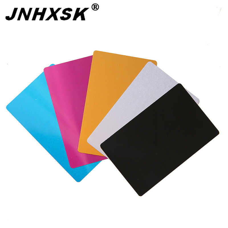 uxcell Blank Metal Business Card 80x50x1mm Anodized Aluminum Plate for DIY Laser Printing Engraving Black 15 Pcs