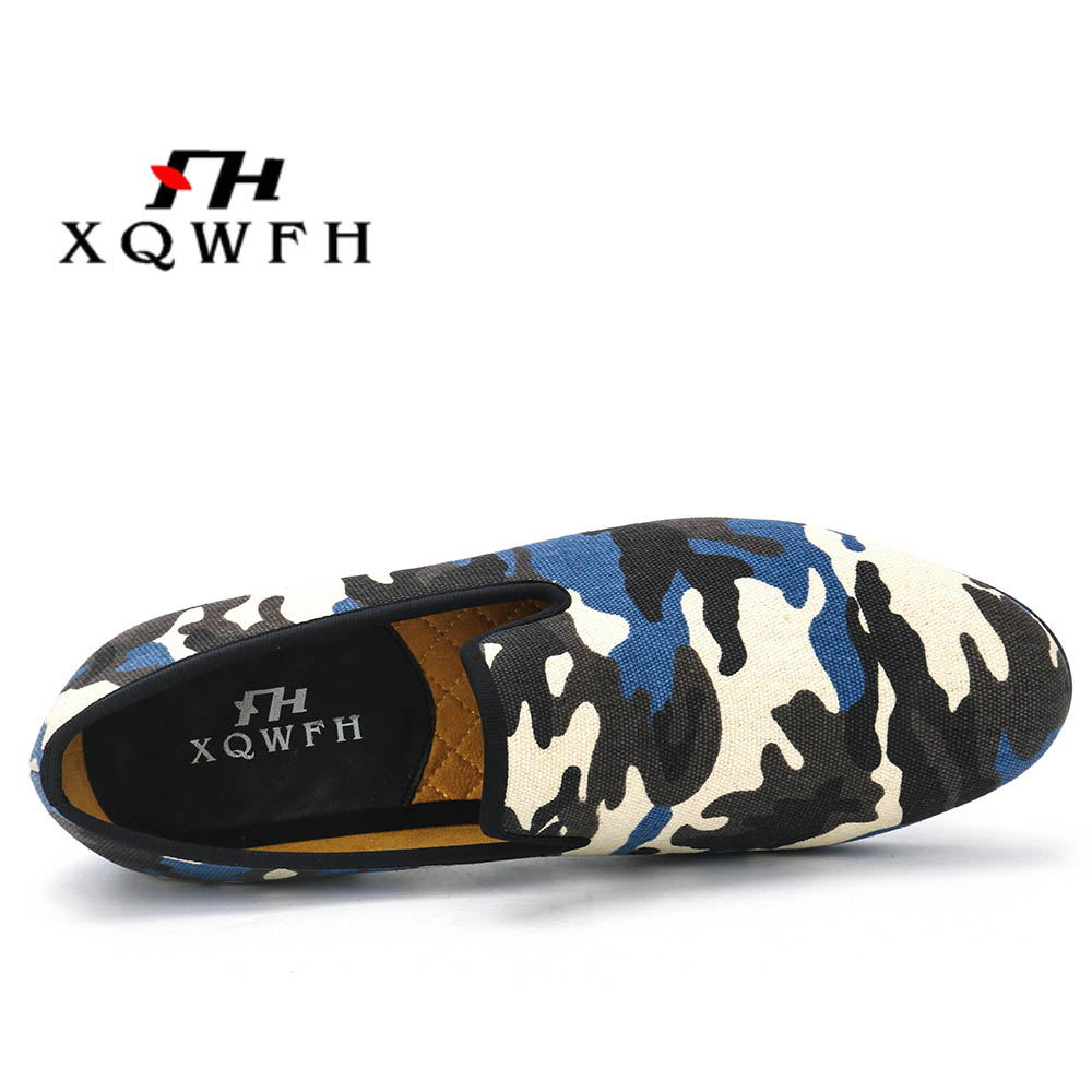 Men's Shoes Smoking-Slipper Camouflage Comfortable New-Fashion