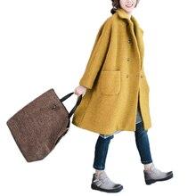 Nicesense Женское пальто Invierno зимние Шерстяное пальто женские Винтаж Шерстяные пиджаки зима плюс размер пальто плотное свободные Пальто для будущих мам