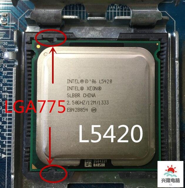 إنتل المقبس 775 زيون L5420 l5420 SLARP SLBBR رباعية النواة 2.5 GHz 12 MB 1333 MHz لا حاجة محول ، يعمل على LGA 775 اللوحة الأم
