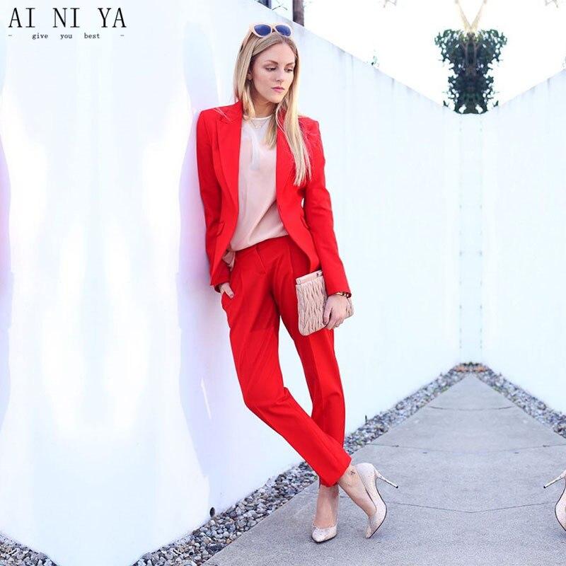 Neue Hosenanzüge Frauen Casual Office Business-Anzüge Formelle - Damenbekleidung