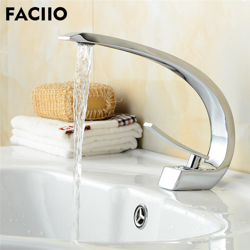 FACIIO Bathroom Basin Faucets Spray Paint Chrome Water Taps Mixer Water Saving Bathroom Tap Faucet Sink Mixer Cold and Hot WaterFACIIO Bathroom Basin Faucets Spray Paint Chrome Water Taps Mixer Water Saving Bathroom Tap Faucet Sink Mixer Cold and Hot Water