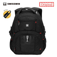 Swiss Laptop Backpack Black School Bags For Teenagers 15 6 Inches Computer Business Travel Bagpack Swisswin