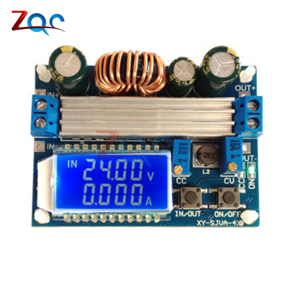 цена на 35W DC 5.5-30V to 0.5-30V Digital LCD Display Automatic Step up down Buck Boost Converter Power Supply Module Adjustable Board