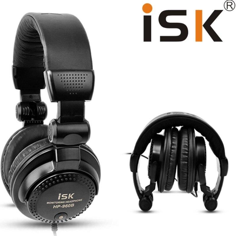 Original ISK HP-960B headband headphone auriculares professional studio monitor dynamic stereo DJ headphones HD headset earphone