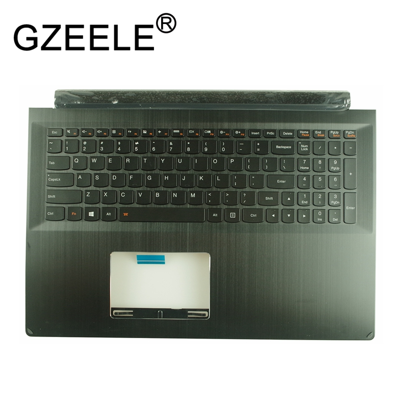 GZEELE US English Keyboard bezel UPPER Case Cover For Lenovo FLex 2 15 Pro-15 Edge 15 Backlit keyboard with Palmrest 5CB0G91191 gzeele new us laptop keyboard for lenovo for ibm thinkpad edge e530 e530c e535 e545 04y0301 0c01700 v132020as3 without backlight