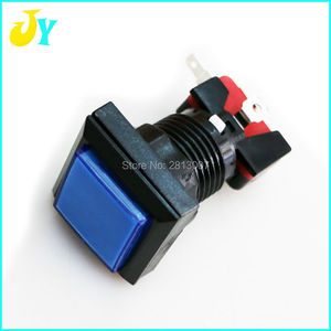 10 шт., 33 мм, 5 В, LED подсветка, кнопка, квадратные кнопки, переключатель для аркада, джамма, MAME