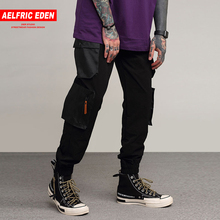 Aelfric Eden Side Pockets Cargo Pants Mens Hip Hop Patchwork Sweatpants Joggers