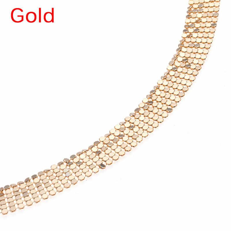2019 חדש סקסי מותן לנשים כסף זהב צבע חוף גוף בטן שרשרת 1pc Vintage אופנה קסם גוף תכשיטי שרשרת