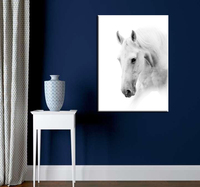 White Horse Painting Canvas Prints Unframed Modern Decoration Animal Painting Horse Picture Wall Art Decor Wholesale