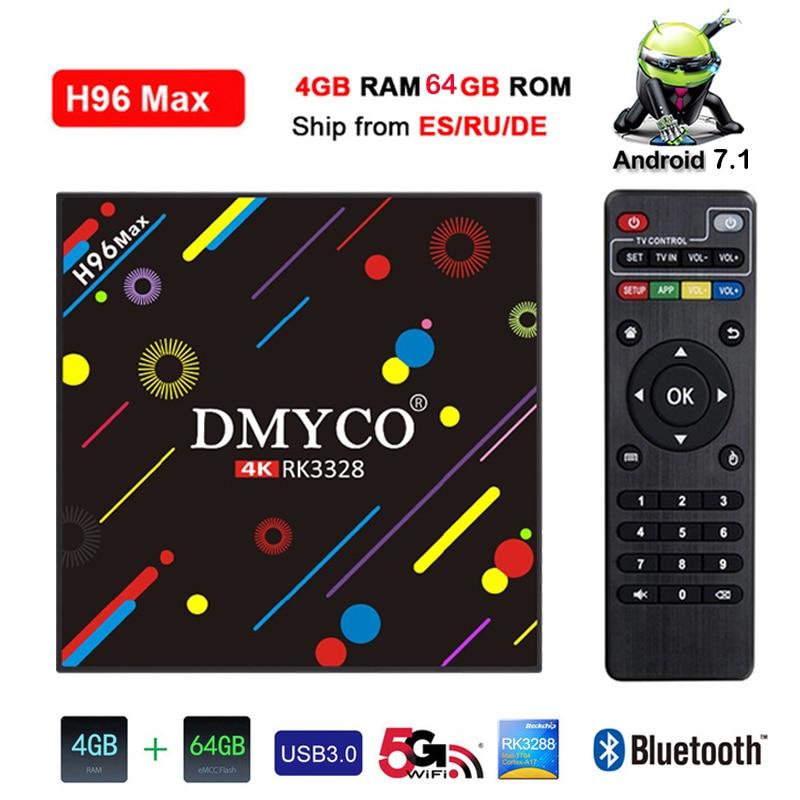 H96 MAX H2 Android 7 1 Smart TV Box 4GB 64GB RK3328 Quad core 2 4G