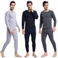 Pijamas quentes de inverno quente térmica underwear homens sexy ceroulas preto térmica conjuntos de underwear grosso além disso velet long johns para homem