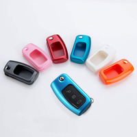 Car Styling Car Key Cover Auto Remote Key Cover Case For New Fiesta Ecosport Focus 2